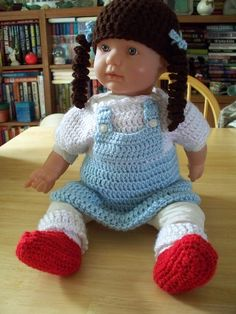 Dorothy from the Wizard of Oz Crocheted Baby Costume. $25.00, via Etsy.