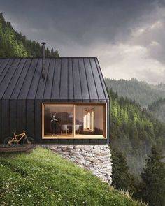 New ideas for house design ideas exterior cabin Residential Architecture, Modern Architecture, Weekend House, Modern Barn, Black House, Exterior Design, Modern Exterior, Beautiful Homes, Building A House