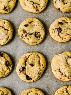 Sea Salt Chocolate Chip Cookies / Oh Lady Cakes