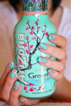 .who cares about the bottle.... the design looks awesome on those nails!