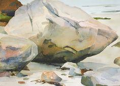 Big and Pale, Cambridge Beach, watercolor 10 x 2010 Types Of Art, Type Art, Landscape Paintings, Landscapes, Art Inspo, Artist, Beach Watercolor, Arches, Cambridge