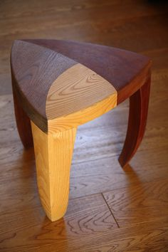 Stool designed and made during Wood Elective course at RIT.