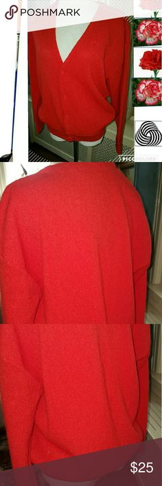 Fab Vintage Greenturf Unisex golf sweater I am pretty sure this is from the eighties period not itchy wool at all. Large size. Approximate measurements 21 inches shoulder to shoulder,23 inches underarms and 24 inches long. Vintage Sweaters Cardigans