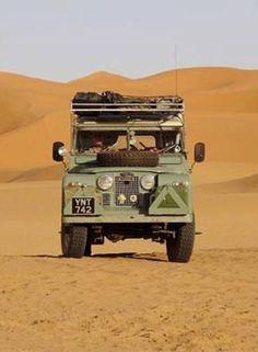 Vintage land rover defender