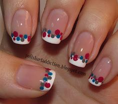 simple dotted nails
