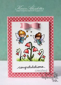 Peppermint Patty's Papercraft: Butterfly Reflections Ink: Congratulations