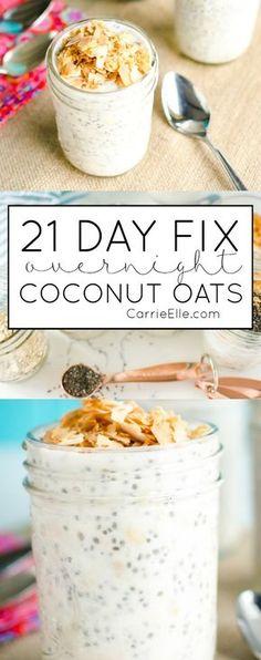 21 Day Fix Coconut Overnight Oats