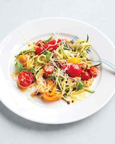 Trade in traditional pasta for the ultimate gluten-free alternative. Cut into thin strips and briefly cooked, zucchini takes on an al dente texture that mimics pasta's.
