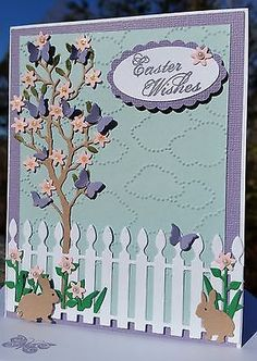 EASTER CARD KIT SET/LOT STAMPIN UP Memory Box Poppystamps Easter Bunny Handmade