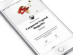 Fine Dining Recipe App Concept by Aaron Humphreys