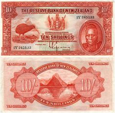 First series of banknotes: 10 shillings Nz History, My Family History, Money Worksheets, New Zealand Houses, Nz Art, Kiwiana, Unusual Things, Reptiles And Amphibians, What Is Like