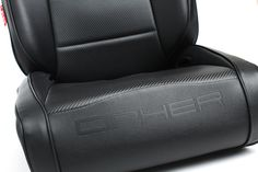 CPA3002 All Black Leatherette Cipher Auto Universal Reclinable Suspension Seats - Pair