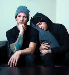 "Josh looks like he's protecting Tyler. Like he's thinking, ""if you hurt this sweet, innocent human being I'll hurt you."""