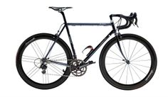 De Rosa Sessanta Acciaio (steel) with Campagnolo Super Record and Bora Ultra Two wheels. Beauty.
