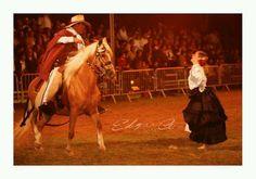 Marinera...Peruvian dance between woman and Caballo de paso