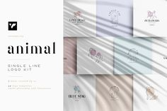 Animal single line logo kit + Fonts by VPcreativeshop on @creativemarket