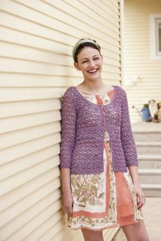 Ravelry: Summer Petals Cardigan pattern  by Julia Vaconsin - would have to buy the magazine or pattern [sport]