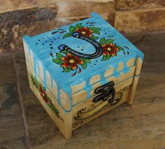 Tattoo Art Jewelry Box  Lucky Horse Shoe and by ArtByIsadora