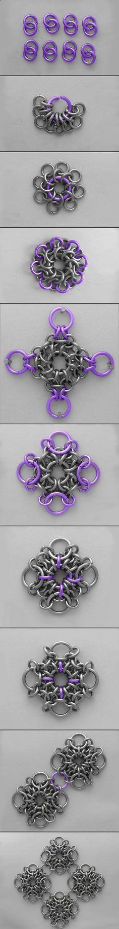 Chainmaille Tutorial - would make a nice belt or veil cover? Jump Ring Jewelry, Wire Jewelry, Jewelry Crafts, Jewelry Art, Beaded Jewelry, Jewelery, Handmade Jewelry, Jewelry Design, Wire Earrings