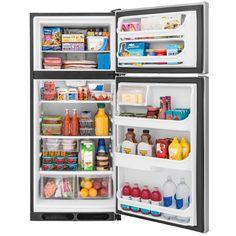 Shop Frigidaire 16.3-cu ft Top-Freezer Refrigerator (Stainless Steel) ENERGY STAR at Lowes.com