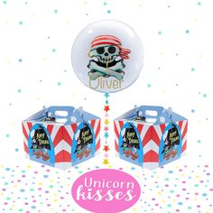 Personalised giant clear Pirate balloon,first birthday,baby shower,cake smash,bubble balloon,party gift/boys birthday/christening/baptism by UnicornsandKisses on Etsy