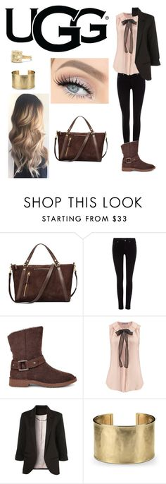 """The New Classics With UGG: Contest Entry"" by memi-pink ❤ liked on Polyvore featuring UGG, Maison Scotch, WithChic, Blue Nile, David Yurman and ugg"
