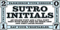 Sutro Initials font download