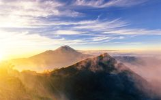 Download wallpapers Gunung Agung, 4k, stratovolcano, Mount Agung, Bali, Asia