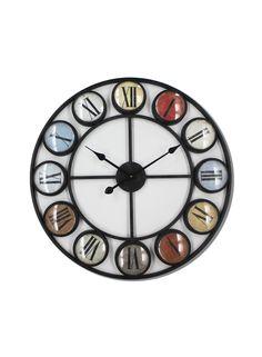 A Loja do Gato Preto | Relógio Círculos/Metal #alojadogatopreto