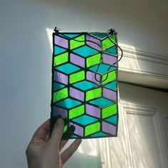 Find more @everglowglass on instagram Green And Purple, Teal, Glass Cutter, Patina Finish, Sun Catcher, Stained Glass Art, Glass Panels, Modern, Handmade