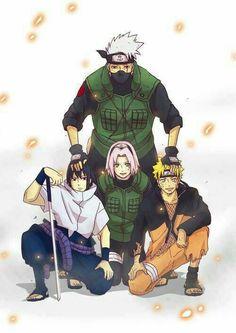 Equipo 7  #naruto #sasuke #sakura #kakashi