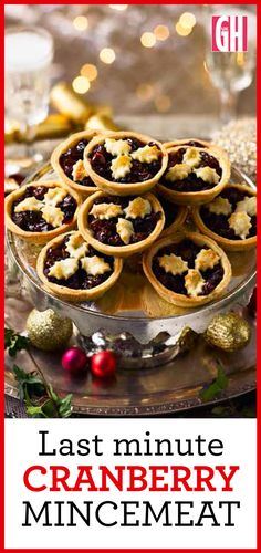 This jewelled cranberry mincemeat recipe takes minutes to make and can be used immediately. The mixture makes about 375g (13oz), or enough to fill 12 mince pies. It's suitable for vegetarians.