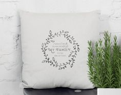 Handprinted Quote pillow with a message that shows your love and apreciation for your parents, grandparents and family. Original gift that can be personalized with names..., for Grand parents day, Mothers day, Fathers day, Birthdays, Christmas ... designed and hand printed by My Home and Yours. Worldwide shipping! Christmas Morning, Christmas Holidays, Quote Pillow, Personalized Pillow Cases, Holiday Wreaths, Family Gifts, Vintage Prints, Fathers, House Warming