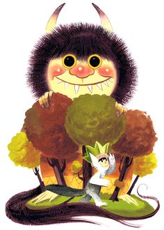 Where The Wild Things Are by Pocketowl on DeviantArt Maurice Sendak, Cute Squirrel, Tiny Kitten, Classic Books, Work Inspiration, Children's Book Illustration, Art For Sale, Art For Kids, Creatures