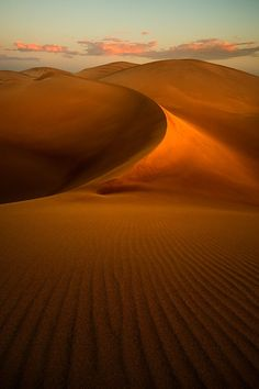 Giant Sand Dunes of Peru.