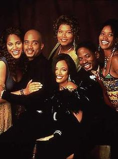 Latifah Made Her TV Debut In The FOX Sitcom Living Single 1993 From Left With Costars Erika Alexander Kim Fields And