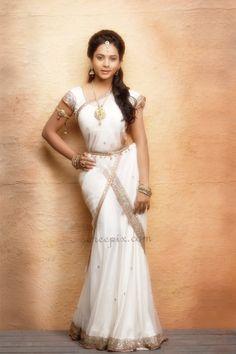 reception dress maybe? Half Saree Lehenga, Lehenga Gown, Saree Dress, Indian Wedding Hairstyles, South Indian Bride, Saree Styles, Indian Fashion, Glamour, Dresses