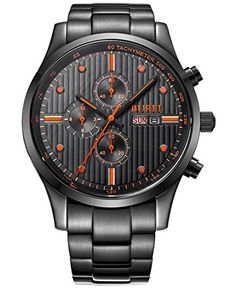 Protective scratch-resistant sapphire crystal dial window; round stainless steel case watch; High-quality materials protect precise Japanese-quartz movement keeping good time. Day and date calendar, seconds-minutes-hours multi dial Chronograph function. It is quite suitable for a present with elegant package. Durable Stainless steel bracelet with Push-Button Hidden Clasp, suitable for your daily wear. Watches links remover tool is bonus so you can adjust the bracelet easily by yourself at…