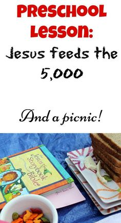 This is such an easy and cute lesson to teach kids about Jesus feeding the 5,000