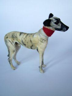 400 Nadel Gefilzte Windhund Porträt Haustier Hund - wolle Tier Skulptur-Eco freundliche Kunst-Sammler Künstler Tiere