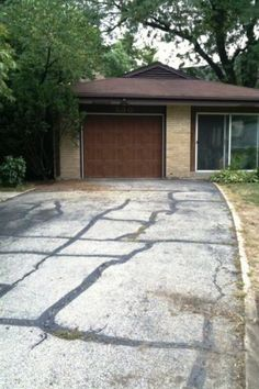 Do it yourself driveway repair for the home pinterest driveway should you patch your driveway or just replace it solutioingenieria Images