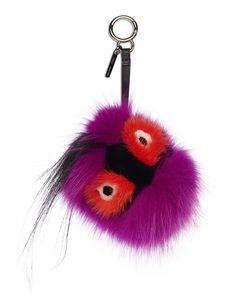Fendi Fur Monster Charm for Handbag, Multi