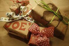 Trader Joe's bag recycled into gift wrap