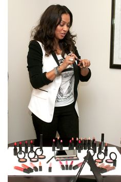 LaLa Anthony launches her own make-up line. :)