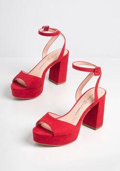 Tie Up Heels, Blue Heels, Dress And Heels, High Heels, Women's Heels, Cute Shoes, On Shoes, Me Too Shoes, Red Block Heels