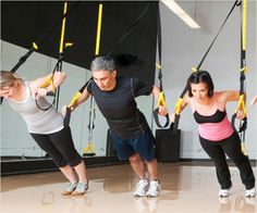 TRX core exercises, is suspended above the ground or you may be required to lean into the straps, or away from the straps in order to generate resistance.