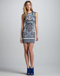 Spice Market Sleeveless Neoprene Dress by Clover Canyon at Neiman Marcus.