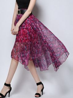 Graceful Chiffon Skirt ///