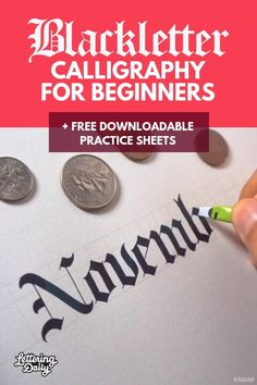 Blackletter calligraphy guide for beginners – Lettering Daily