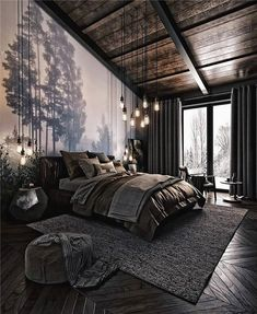 For those looking to make their bedroom look good, adopting a modern bedroom design style isn't actually a bad idea. Here are some easy ways you can redo your bedroom - Home Decor Dark Cozy Bedroom, Bedroom Modern, Bedroom Rustic, Bedroom Small, Minimalist Bedroom, Tranquil Bedroom, Contemporary Bedroom Decor, Bedroom Country, Bedroom Romantic